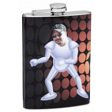8oz Insert Your Own Picture Robot Flask